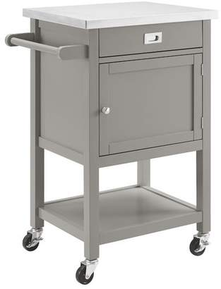 Willa Arlo Interiors Eira Kitchen Cart with Stainless Steel Top Base