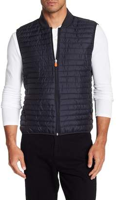 Save The Duck Quilted Mixed Media Vest