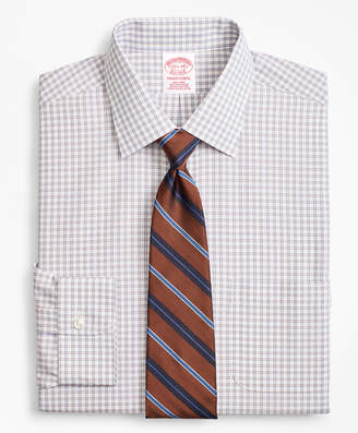 Brooks Brothers Traditional Relaxed-Fit Dress Shirt, Non-Iron Framed Windowpane