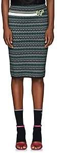 Prada Women's Logo Dot & Chevron-Pattern Pencil Skirt-Green