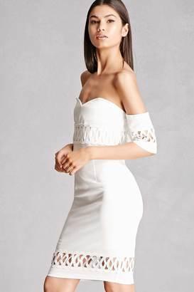 FOREVER 21+ Soieblu Off-the-Shoulder Dress $48 thestylecure.com