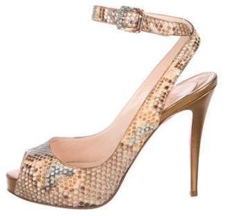 Christian Louboutin Embossed High Heel Sandals