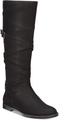 Easy Street Shoes Memphis Wide-Calf Riding Boots Women Shoes