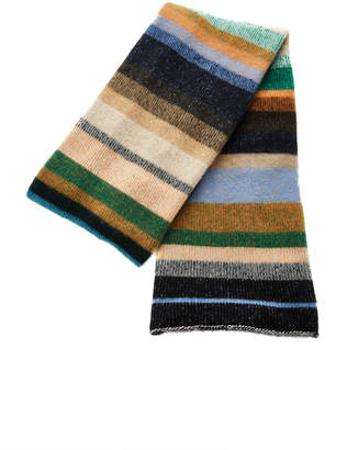 The Elder Statesman Stripe Oversized Cashmere Scarf