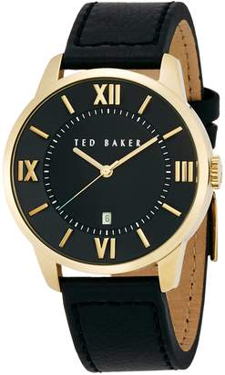 Ted Baker Men's 10015153 Dress Sport Analog Display Japanese Quartz Black Watch
