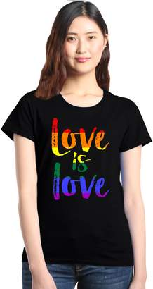 Shop4Ever Love is Love Women's T-Shirt Gay Pride Shirts XXX-Large