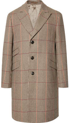 Holiday Boileau Slim-Fit Checked Wool Overcoat