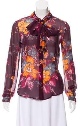 Dolce & Gabbana Long Sleeve Printed Top