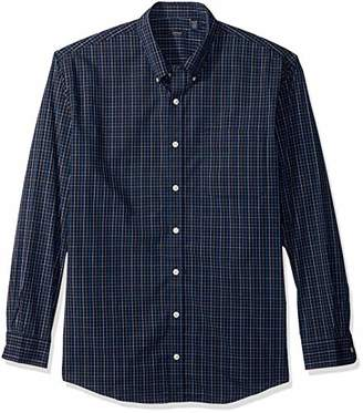 Arrow Men's Big and Tall Hamilton Poplin Long Sleeve Button Down Shirt