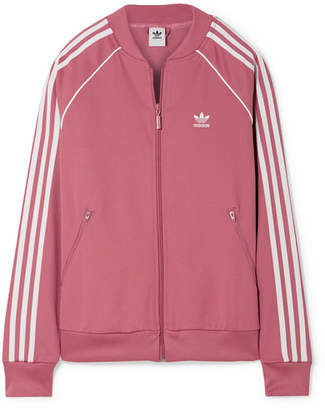 adidas Sst Striped Jersey Track Jacket - Pink