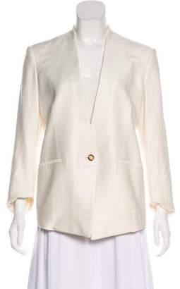 Helmut Lang Leather-Trimmed Structured Jacket