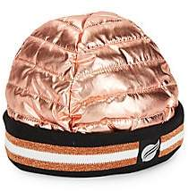 Think Royln Women's Downtown Crown Metallic Puffer Beanie