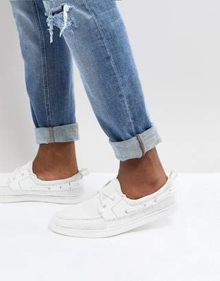 Asos Boat Shoes In White Mesh