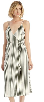 Striped Wrap Dress $112 thestylecure.com