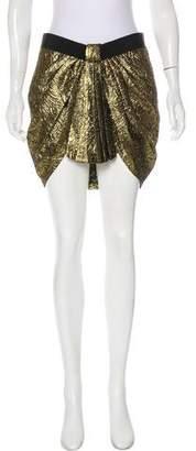 Isabel Marant Wool & Silk-Blend Metallic Skirt