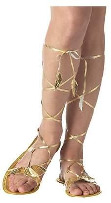 Warehouse fancy dress Adult Golden Goddess Sandals - Small Fancy Dress
