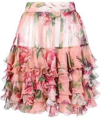 Dolce & Gabbana Peony-print skirt