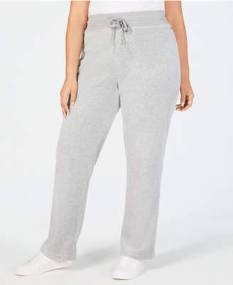 Calvin Klein Plus Size Velour Wide Leg Pants