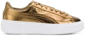 Puma platform metallic sneakers