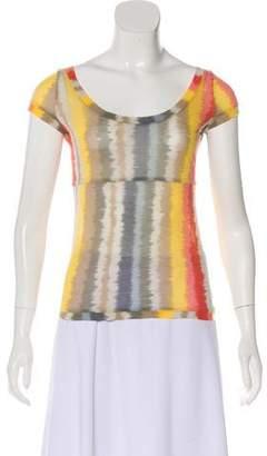 Marni Striped Cap Sleeve T-Shirt