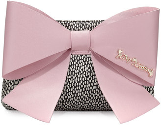 Betsey Johnson Big Bow Chic Clutch Bag, Blush $70 thestylecure.com