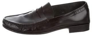 Tod's Leather Round-Toe Penny Loafers