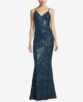 Xscape Evenings Strappy Sequin Gown