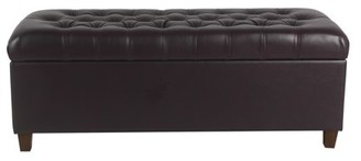 HomePop Macalester Tufted Storage Bench, Multiple Colors