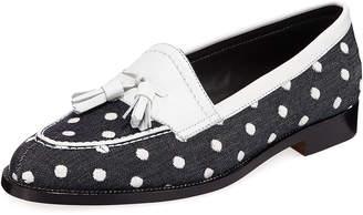 Manolo Blahnik Aldenabi Wool Tassel Loafers