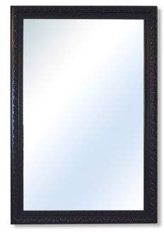 MirrorOutlet Bevelled Antique Style Large Black Wall Mounted Mirror Resin Rectangle 178X117Cm King (50)
