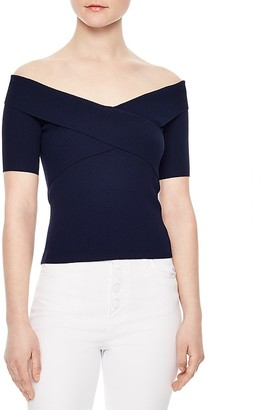 Sandro Galina Off-the-Shoulder Sweater $190 thestylecure.com