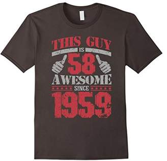 Vintage Born in 1959 58th Birthday Gifts 58 This Guy Awesome