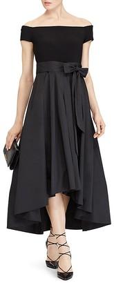 Lauren Ralph Lauren Petites Mixed Media Gown $260 thestylecure.com