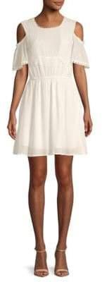 Moon River Lace-Trimmed Sheath Dress