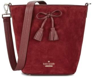 Kate Spade Hayes Street Vanessa Red Suede Shoulder Bag