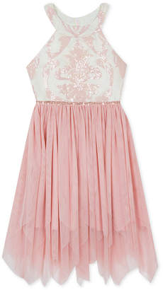 Rare Editions Big Girls Sequin Fairy Hem Dress