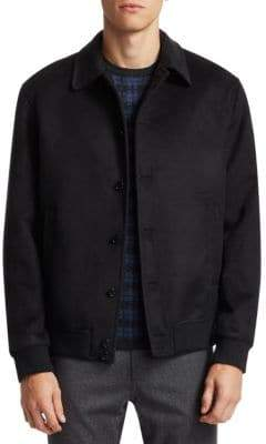Saks Fifth Avenue COLLECTION Wool Silk Bomber Jacket