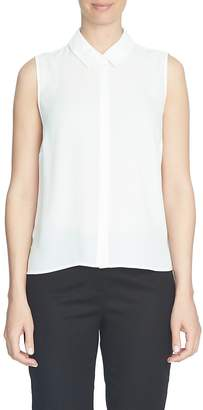 CeCe Sleeveless Crepe Blouse