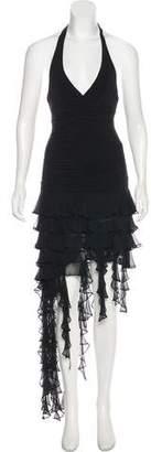 BCBGMAXAZRIA Ruffled Sleeveless Dress w/ Tags
