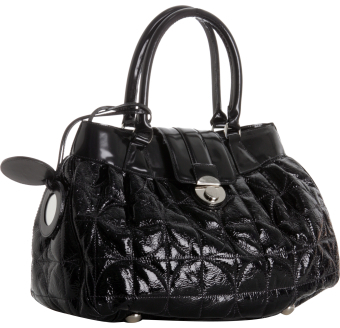 Tufi Duek black quilted patent leather 'Anna' satchel