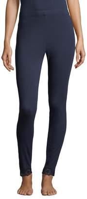 Natori Lace Trim Leggings