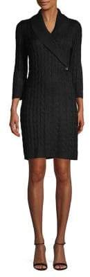 Calvin Klein Long Sleeve Cable-Knit Dress