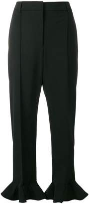 Valentino ruffled cuff trousers