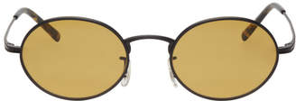 The Row Black and Yellow Empire Suite Sunglasses