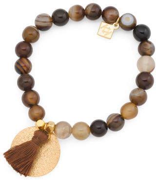 Made In Canada Silk Tassel Goldtone Bracelet