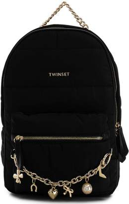 Twin-Set charm chain detail backpack