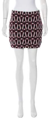 Diane von Furstenberg Jacquard Mini Skirt