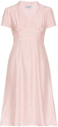 HVN Morgan gingham short-sleeved dress $665 thestylecure.com
