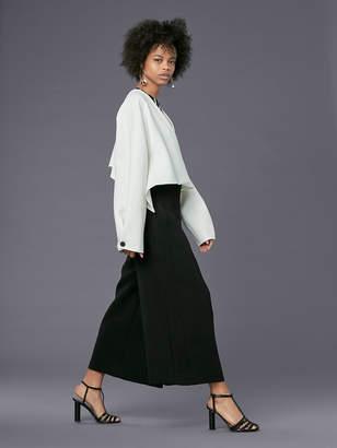 Diane von Furstenberg Long-Sleeve Cropped Button-Up Jacket