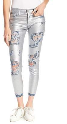 Siwy Denim Felicity Low Rise Metallic Distressed Skinny Jeans